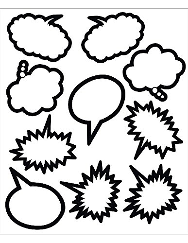 - Teacher Created Resources Black and White Speech/Thought Bubbles Accents (5592)