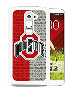 Popular Design LG G2 Case Ncaa Big Ten Conference Football Ohio State Buckeyes 2 White Best New Design LG G2 Cover Case
