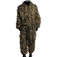 OUTERDO Camo Suits Ghillie Suits 3D Leaves Woodland...