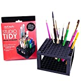 Arts & Crafts : Mont Marte 96 Hole Plastic Pencil and Brush Holder, Desk Stand Organizer Holder for Drawing Markers, Paint Brushes, Colored Pencils