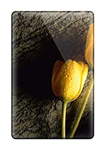 1428213K78983505 Faddish Phone Two Wet Yellow Tulips Case For Ipad Mini 3 / Perfect Case Cover