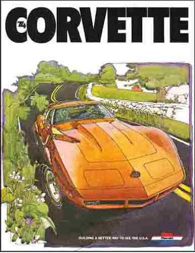 BEAUTIFUL 1974 CHEVROLET CORVETTE FULL-COLOR DEALERS SALES BROCHURE - CHEVY VETTE 74 pdf epub