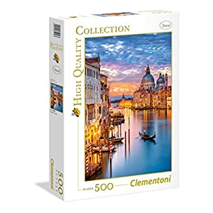 Clementoni 35056 High Quality Collection Puzzle Lighting Venice 500 Pezzi