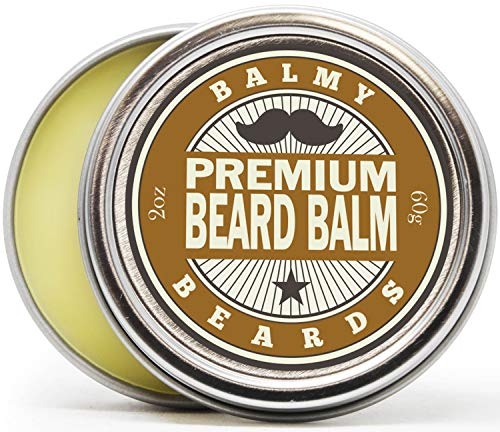 Balmy Beards Best Premium Beard Balm and Leave In Conditioner and Wax - All Natural Organic Beard and Mustache Softener - Styles, Strengthens and aids Hair Growth (Cedarwood)