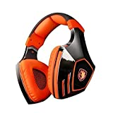 SADES A60 Ele Gaming Headsets with Microphone, Orange