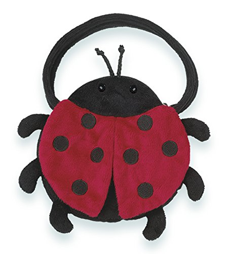 Bearington Lucky Bug Carrysome, Girls Plush Ladybug Stuffed Animal Purse, Handbag 7 inches ()