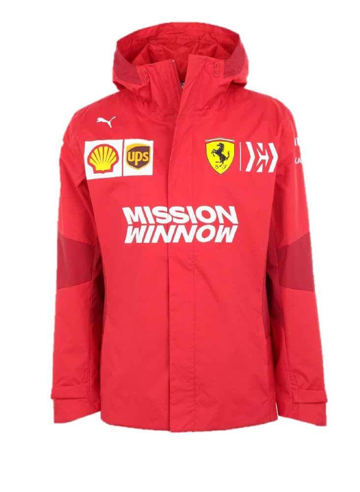 PUMA Men's Scuderia Ferrari Team Jacket, Rosso Corsa, S