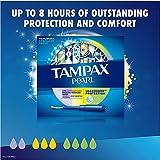 Tampax Pearl Plastic Tampons, Light/Regular/Super