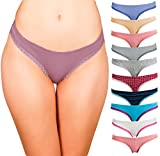 Emprella Womens Bikini Underwear (10-Pack) Seamless Breathable Cotton Panties
