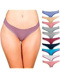 Womens Cotton Bikini Underwear Set, Seamless Ladies Panties | 10 Pack