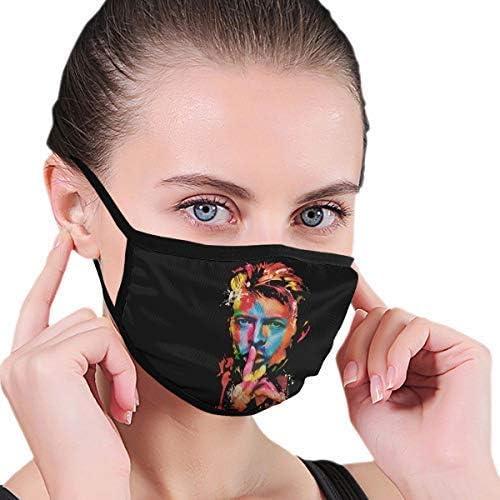 Cheyan David Bowie Rock Art Ext/érieur Visage Bouche Masque Coupe-vent Sports Masque Masque Masque de Ski Bouclier /Écharpe Bandana Hommes Femme