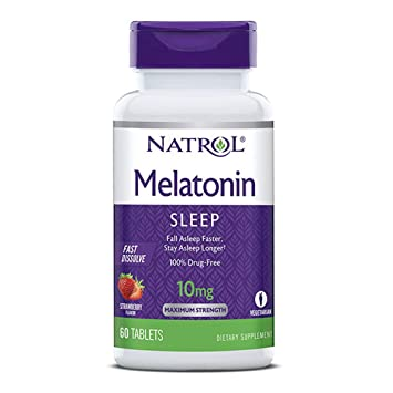 Image Unavailable. Image not available for. Color: Natrol Sleep Fast Dissolve Melatonin Tablets 10 mg ...