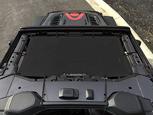 ALIEN SUNSHADE Jeep Wrangler JL Front Sunshade Mesh Top for 2018+ Jeep Wrangler 2- door or 4-door JL and JLU Unlimited