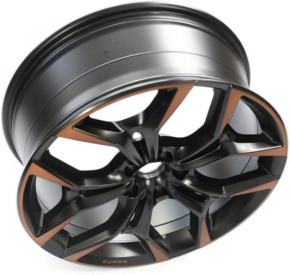 Seat 575601025AMXEB Aluminium Cupra 20 inch Tuning Sport 8Jx20 ET40 5x112 Alloy Rim Black Matt//Copper