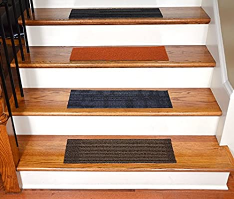 Dean Affordable DIY Non Skid Carpet Stair Treads Set Of 13 23 X 8 Color Mosaic