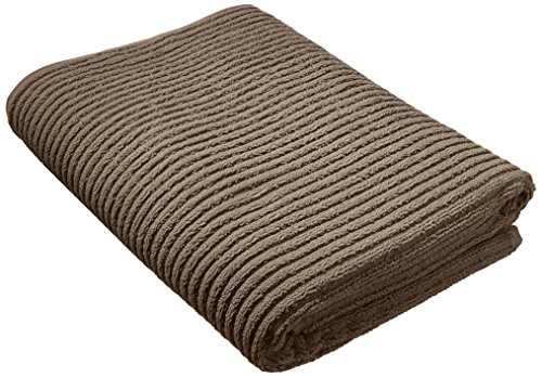 Kassatex Fine Linens Urbane Hand Towel, Gray - 100% LONG STAPLE TURKISH COTTON Horizontal ribbed construction Quick Dry-600 grams per square meter - bathroom-linens, bathroom, bath-towels - 51wNYkwxvQL -