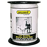 Baygard 795 Electric Fence 1/4-Inch White Rope, 656 -Feet Model