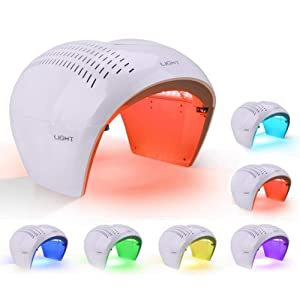 Skin Care Machine Hot Sale 7 Color PDT Photon Therapy Facial Machine LED Light Photodynamic Mask Skin Care Rejuvenation Photon Facial Body Therapy Blackheads Remover Equipment with Protective Eye Mask