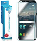 Galaxy S8 Screen Protector (2-Pack, Case Friendly Updated Design), ILLUMI AquaShield Full Coverage Screen Protector for Galaxy S8 HD Clear Anti-Bubble Film