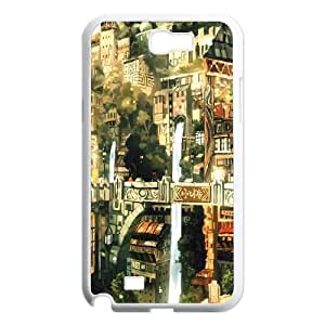 Samsung Galaxy N2 7100 Cell Phone Case White Anime City Painting LV7991992