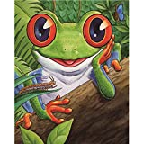 Animals Diamond Painting,Aobuang 5D DIY Partial Drill Rhinestone Embroidery Pictures Arts Craft Creative Home Wall Decor (Frog 25x30cm)