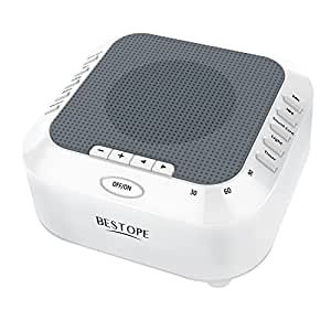 white noise sound machine bestope rechargeable noise cancelling sleep machines. Black Bedroom Furniture Sets. Home Design Ideas