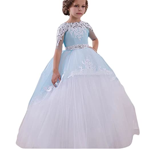 7022c529b Amazon.com  Angel Dress Shop A Line First Communion Ball Gown 2018 ...