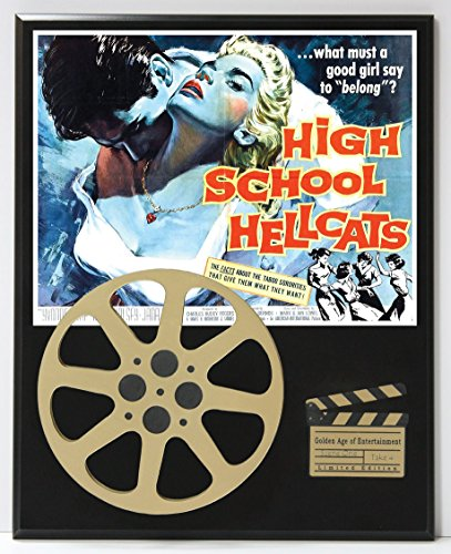 HIGH SCHOOL HELLCATS WITH YVONNE LIME LTD EDITION MOVIE REEL DISPLAY