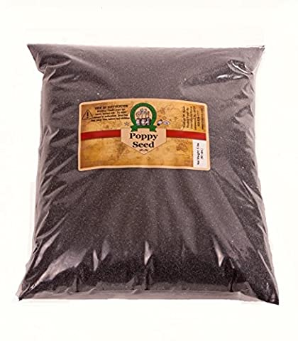 Whole Spanish Poppy Seeds (Unwashed) By International Spice (5 Lb)- Compare to sincerely nuts, bobs red mill, food to live, spicy world, nodding turtle 100% money back - Money Turtle