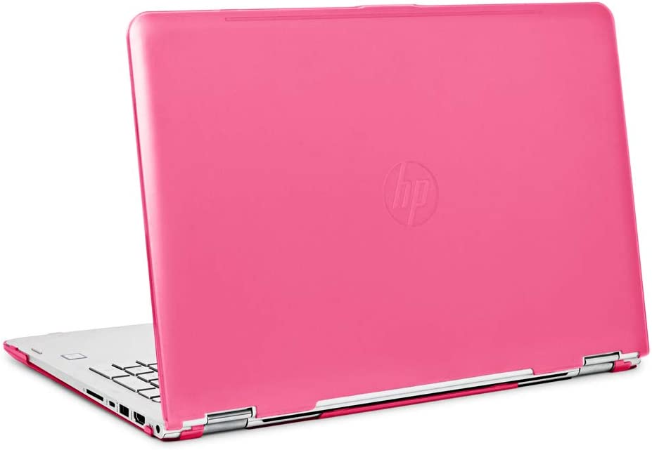 "mCover Hard Shell Case for 15.6"" HP Envy X360 15-BPxxx Series (15-BP143cl / 15-BP152nr, etc, NOT Compatible with X360 15-AQxxx and Other Series) Convertible laptops (Pink)"