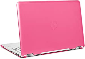 """mCover Hard Shell Case for 15.6"""" HP Envy X360 15-BPxxx Series (15-BP143cl / 15-BP152nr, etc, NOT Compatible with X360 15-AQxxx and Other Series) Convertible laptops (Pink)"""