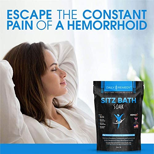 All Natural Sitz Bath Soak with Epsom Salt - Made in USA - for Postpartum Care, Hemorrhoid Treatment, Fissure Treatment & Yoni Steam - Perineal Soaking Bath That Soothes and Cleanses Inflammation