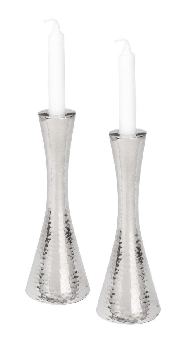 Giftmark CH-726 Hammered Aluminum Candle Sticks by GiftMark