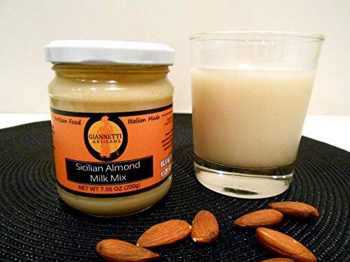 Giannetti Artisans Sicilian Almond Milk Mix (100% Ground Sicilian Almonds jarred 7.05 OZ)