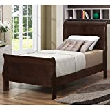 Cheap Louis Philippe Twin Panel Sleigh Bed Cappuccino