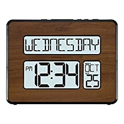 La Crosse Technology 513-1419BL-WA-INT Atomic Large Full Digital Calendar Clock