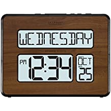 La Crosse Technology 513-1419BL-WA-INT Atomic Large Full Digital Calendar Clock
