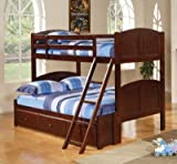 Twin Over Twin Cappuccino Bunk Bed by Coaster Furniture