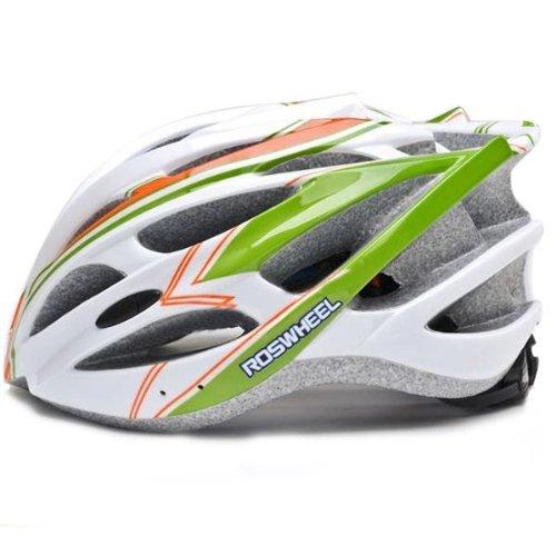 ROSWHEEL 91587 EPS Mtb/Road Bicycle Helmet With 30 vents Color Orange&Green