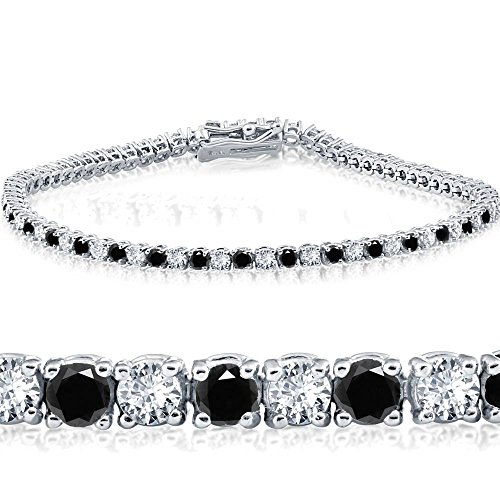 3ct Black & White Diamond Tennis Bracelet 7