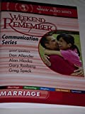 A Weekend to Remember -- Marriage -- Family Life Audio Series -- Communication Series -- 4 Cd SET