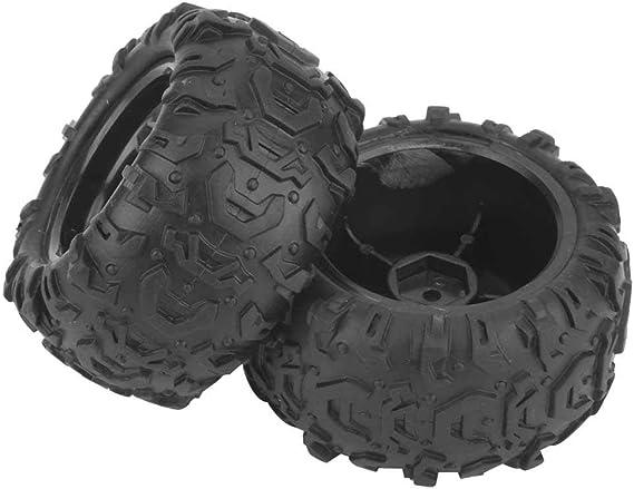 Zouminy Ostern 2 Stück Rc Reifen Rc Lkw Reifen Rad Reifen Mit Nabe Für 9300 9302 1 18 Modellauto Küche Haushalt