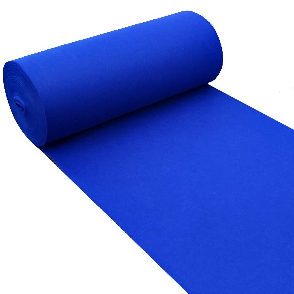 WENZHE Carpet Tappeto Tappeti E Tappetini Moquette Monouso Una Volta Nozze Attività Festa Palcoscenico Blu, 2mm Di Spessore, 4 Larghezze Opzionale (Colore : Blu, dimensioni : 1.2x20 m)
