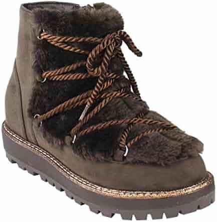 0541e5e05 BESTON FM21 Women s Strappy Ankle High Side Zipper Lug Sole Winter Snow  Booties