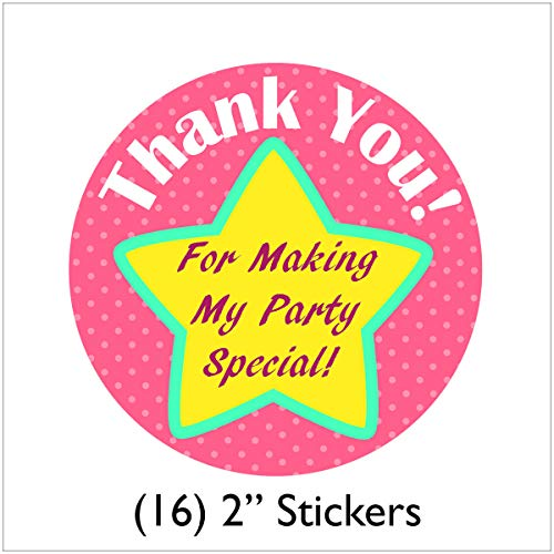 Cedar Crate Market Sparkle Spa Party Supplies Pack for 16 Guests - Stickers, Dinner Plates, Luncheon Napkins, Cups, and Table Cover by Cedar Crate Market (Image #5)