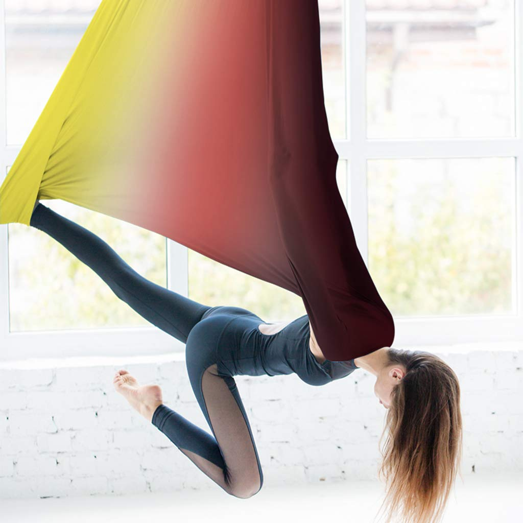 HappyTime Luft-Yoga, Hängematte, Training Belt,5 Meter x 2,8 Meter geeignet für 2,6 Meter-3,2 Meter,d GaoZhongPing