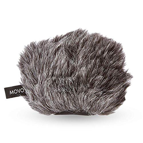 Movo WS-G9 Furry Outdoor Microphone Windscreen Muff for Portable Digital Recorders up to 3