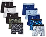 Hanes Boys' Boxer Brief, Assorted Prints & Solids, Small: more info