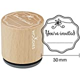 Woodies Mounted Rubber Stamp 1.35-You'Re Invited