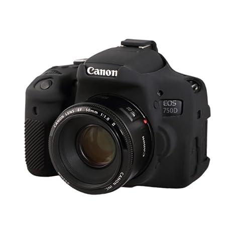 Carcasa Silicona EasyCover ECC750DB easy para Canon 750D: Amazon ...